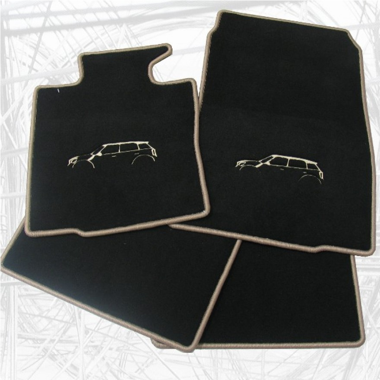 auto fussmatten mini countryman silhouette. Black Bedroom Furniture Sets. Home Design Ideas