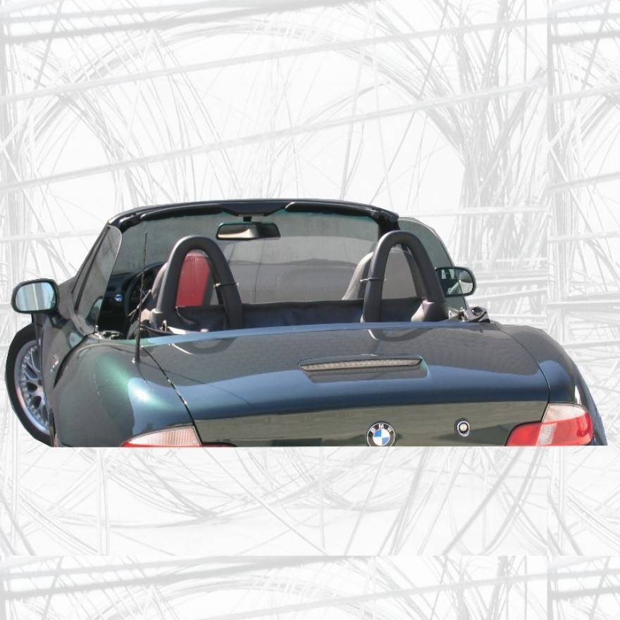 glasklares windschott f r bmw z3 mit original berrollb gel. Black Bedroom Furniture Sets. Home Design Ideas