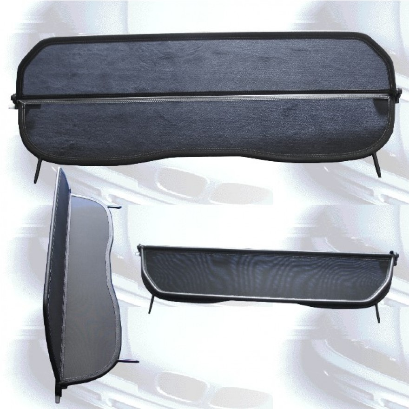 netz windschott f r peugeot 207 cc. Black Bedroom Furniture Sets. Home Design Ideas
