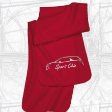 Fleece Schal mit Citroen DS3 Motiv