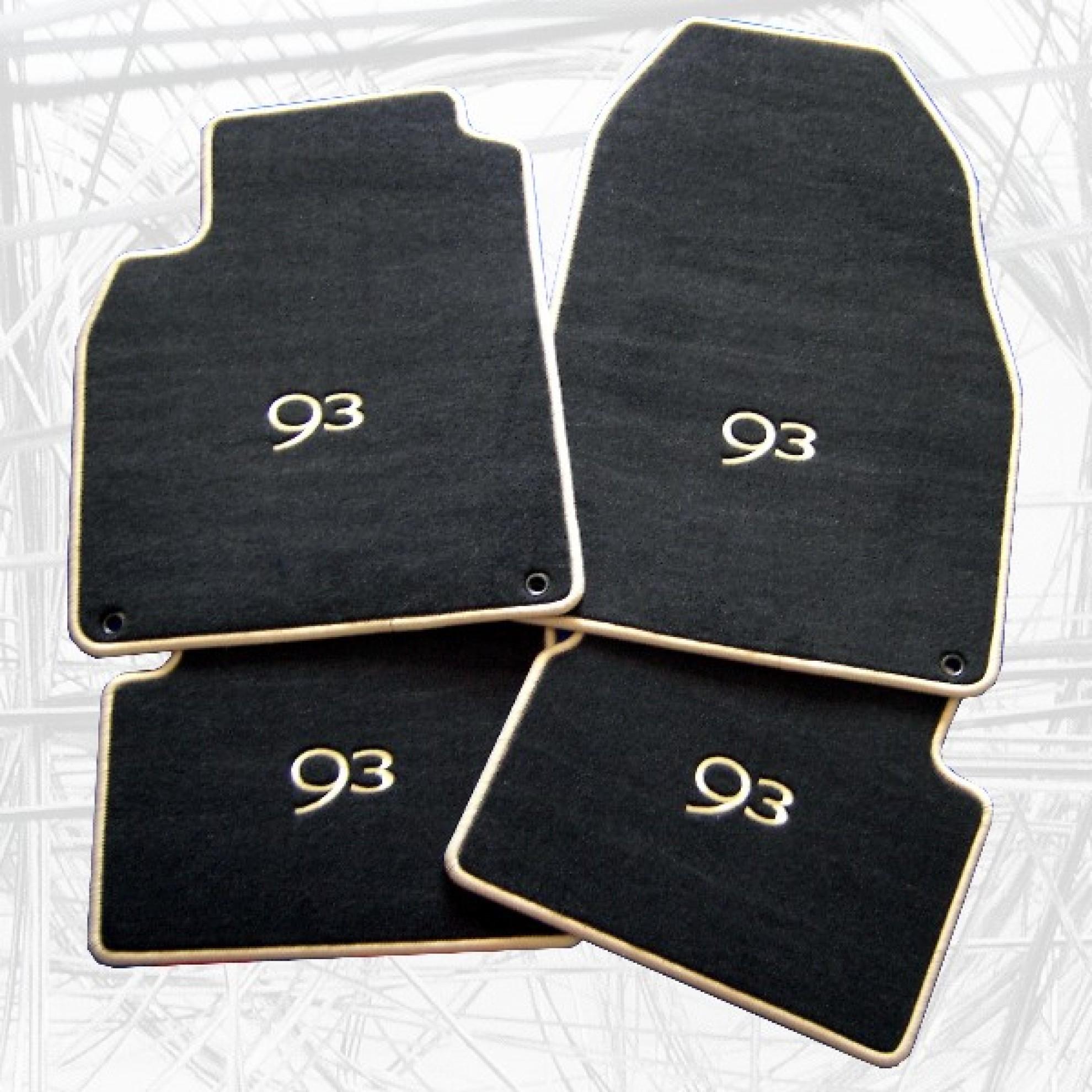 autofussmatten f r saab 9 3 mit stickmotiv. Black Bedroom Furniture Sets. Home Design Ideas